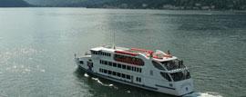 De veerboten van Navigazione Laghi