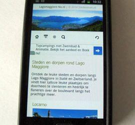 Lago Maggiore op je mobiel