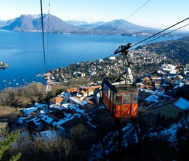 Kabelbaan Mottarone – panoramisch uitzicht over zeven meren