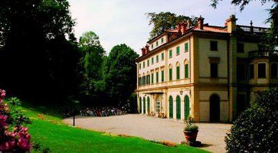 Picknicken in het park van Villa Pallavicino