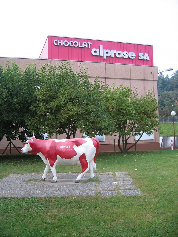 Het Alprose chocolademuseum