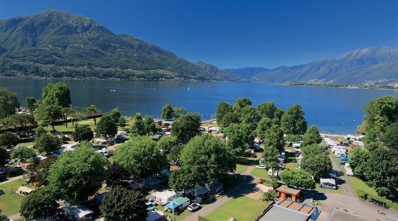 Campings bij Tenero aan het Lago Maggiore
