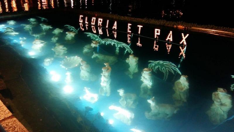 De onderwater kerststal van Laveno Mombello