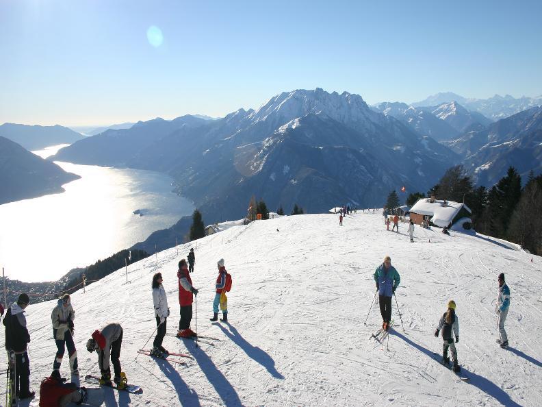 Wintersport bij het Lago Maggiore